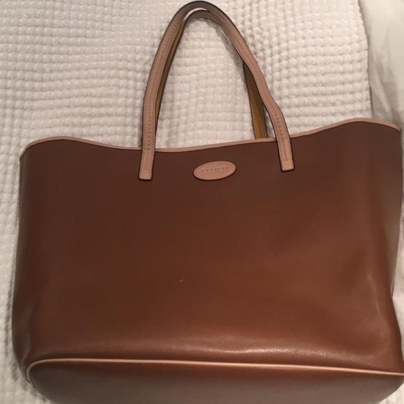 a19f531c134d ... shopping coach tote crosshatch tan leather light tan trim 0acac b7c7a
